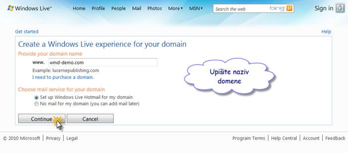 upisivanje domene