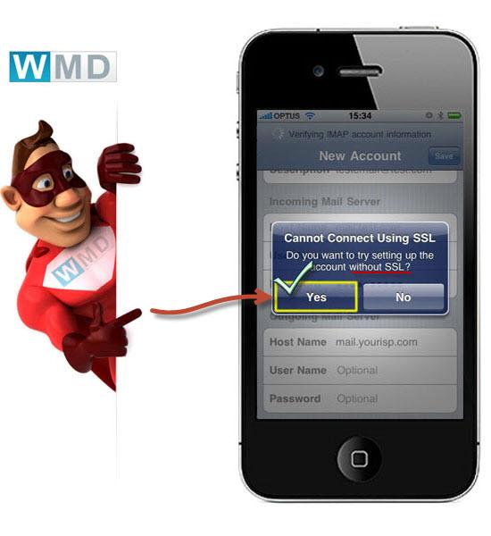 mail za postavljanje na iphone uredaju