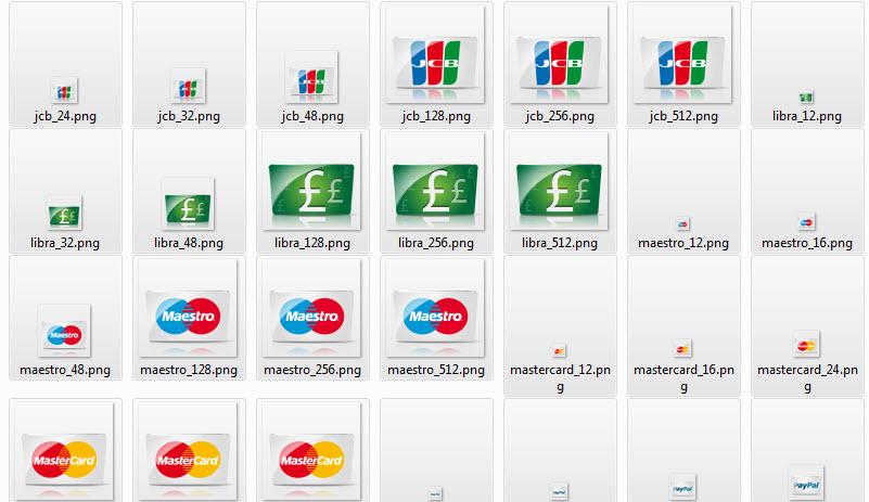 Kreditne kartice i vrste plaćanja set ikona