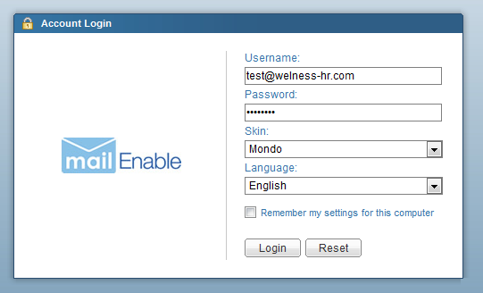login enable mail