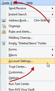 Kreiranje e-mail računa u Outlook-u 2007