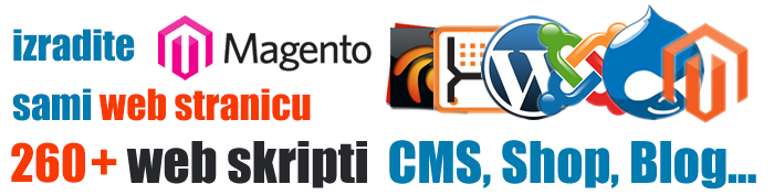 U dva klika do 190+ web skripti CMS, Shop, Blog...