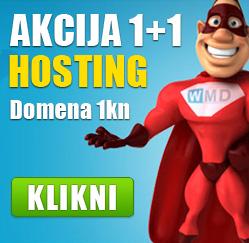 AKCIJA 1+1 HOSTING, Domena 1kn