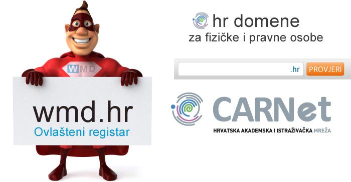 webhosting-wmd.hr - ovlašteni registar .hr domena za fizičke i pravne osobe